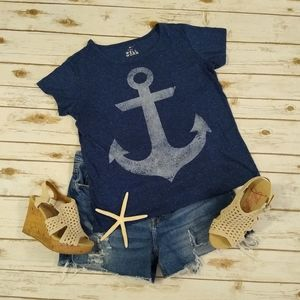 Well Worn Blue Anchor T-shirt